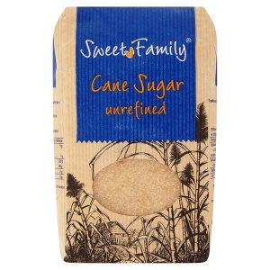 SweetFamily Třtinový cukr nerafinovaný 1kg