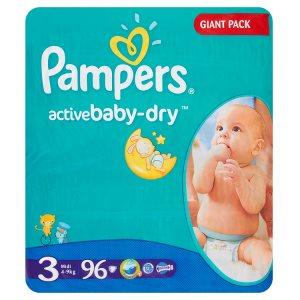 Pampers Active Baby Pleny 3 Midi 96 ks