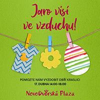 V Novodvorské Plaze se bude zdobit obří Velikonoční kraslice