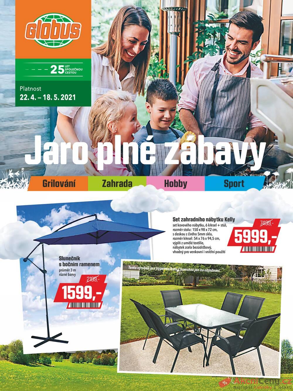 Leták Globus - Globus speciál všechny pobočky 22.4. - 18.5. - strana 1