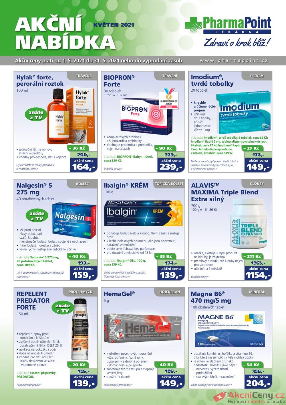 Leták PharmaPoint  - Pharma Point typ A od 1.5. do 31.5.2021 - strana 1