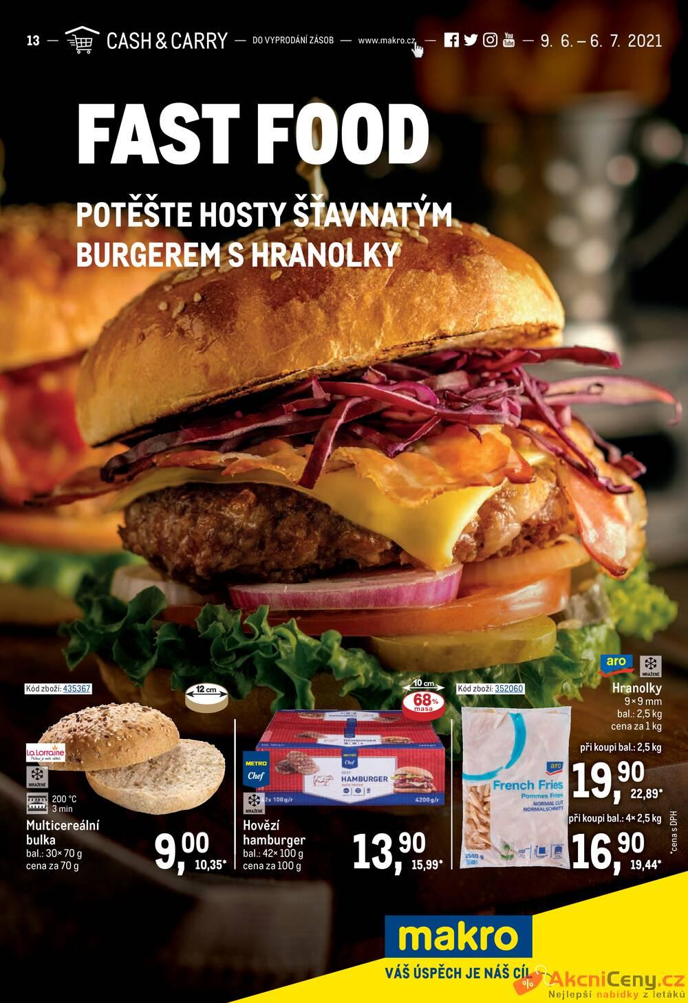 Leták MAKRO - Makro Fast Food do 6.7. - strana 1