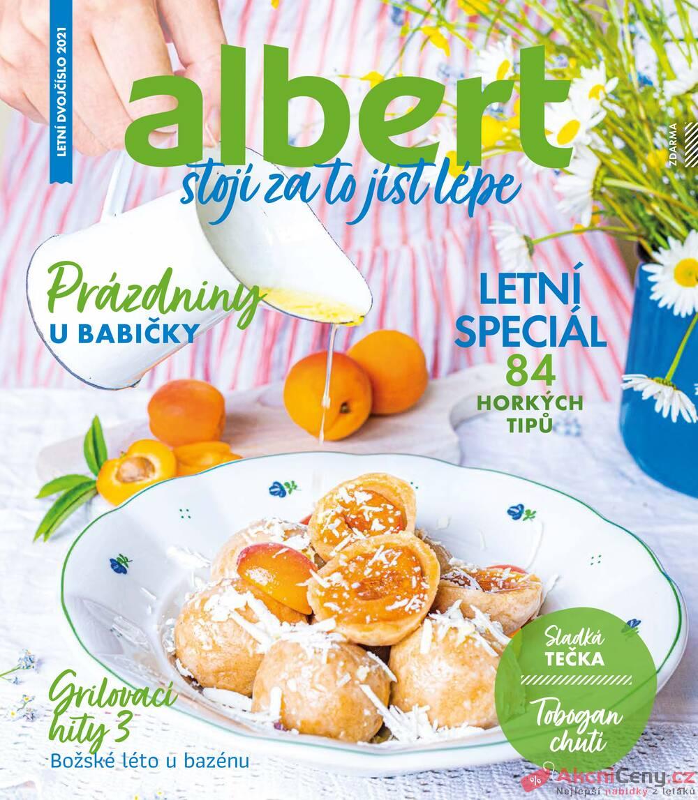 Leták Albert - Albert Magazín 30.6. - 1.9. - strana 1