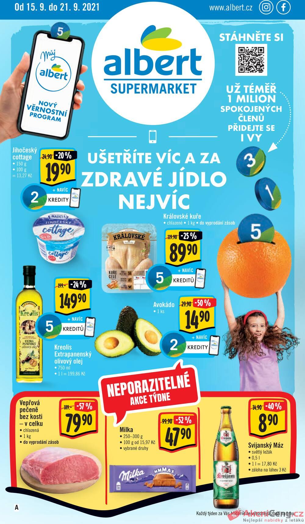 Leták Albert - Albert Supermarket od 15.9. do 21.9.2021 - strana 1