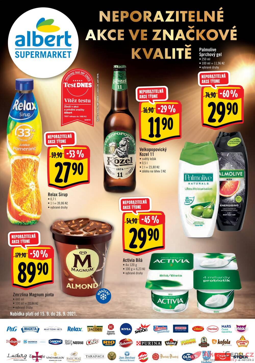 Leták Albert - Albert Supermarket brand od 15.9. do 28.9.2021 - strana 1