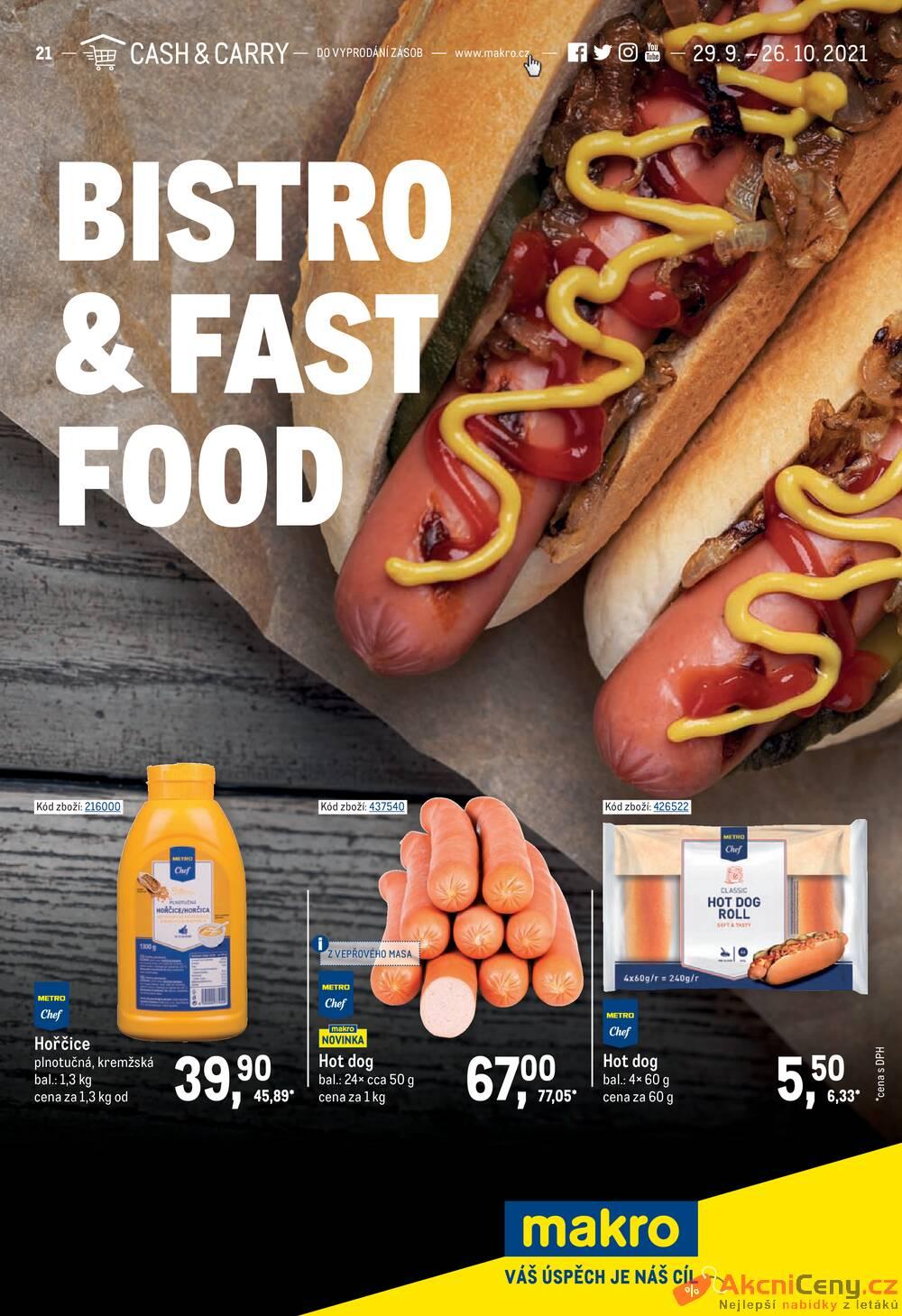 Leták MAKRO - Makro Bistro & Food do 26.10. - strana 1