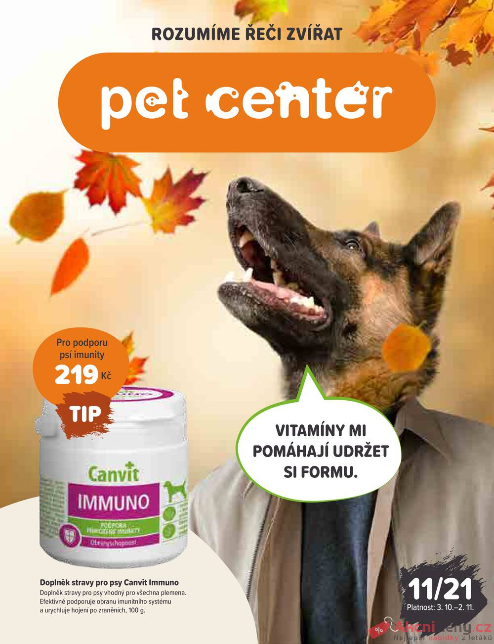 Leták Pet Center - PetCenter od 3.10. do 2.11.2021 - strana 1
