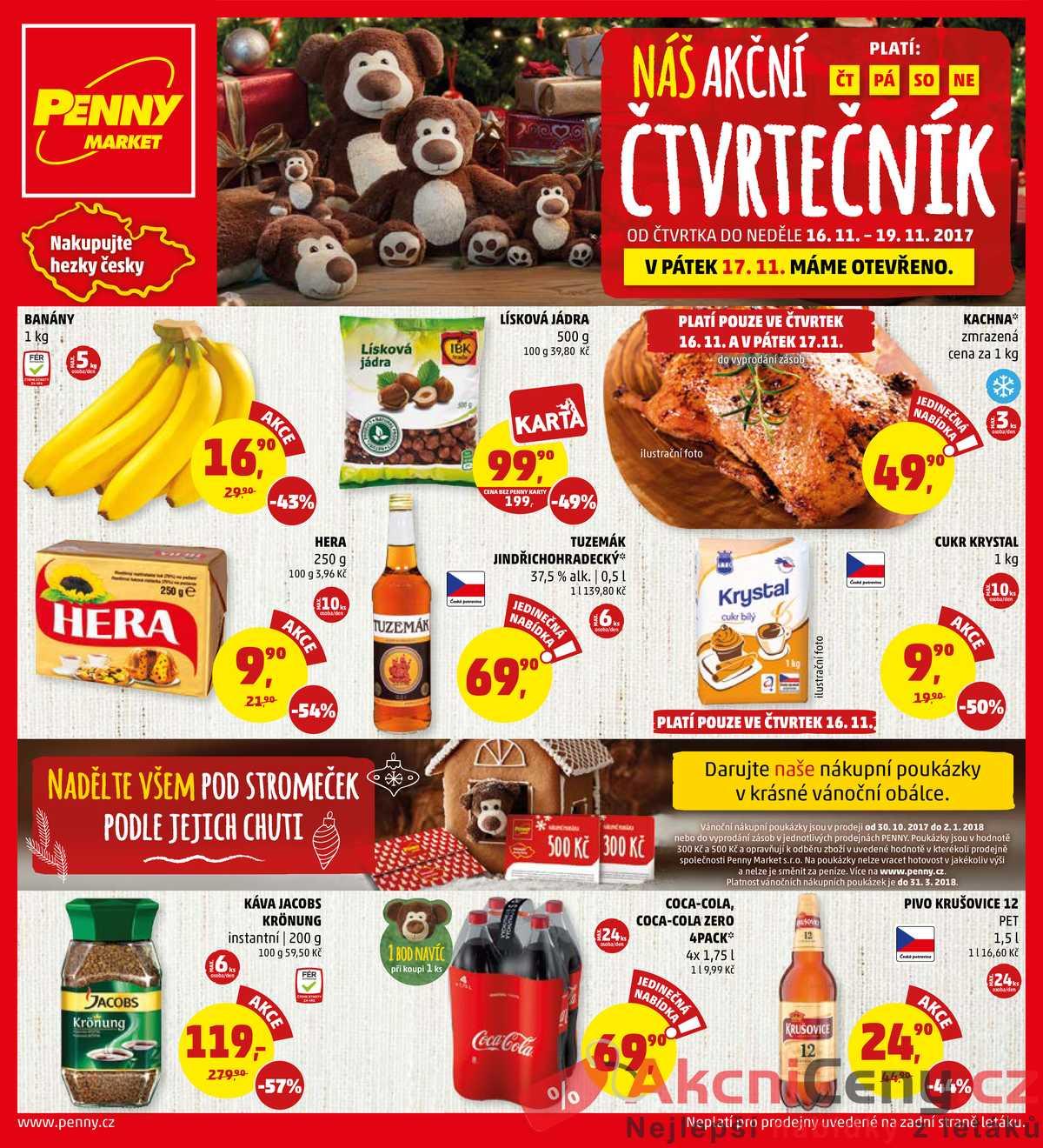 Leták Penny Market 16.11. - 19.11. | AkcniCeny.cz