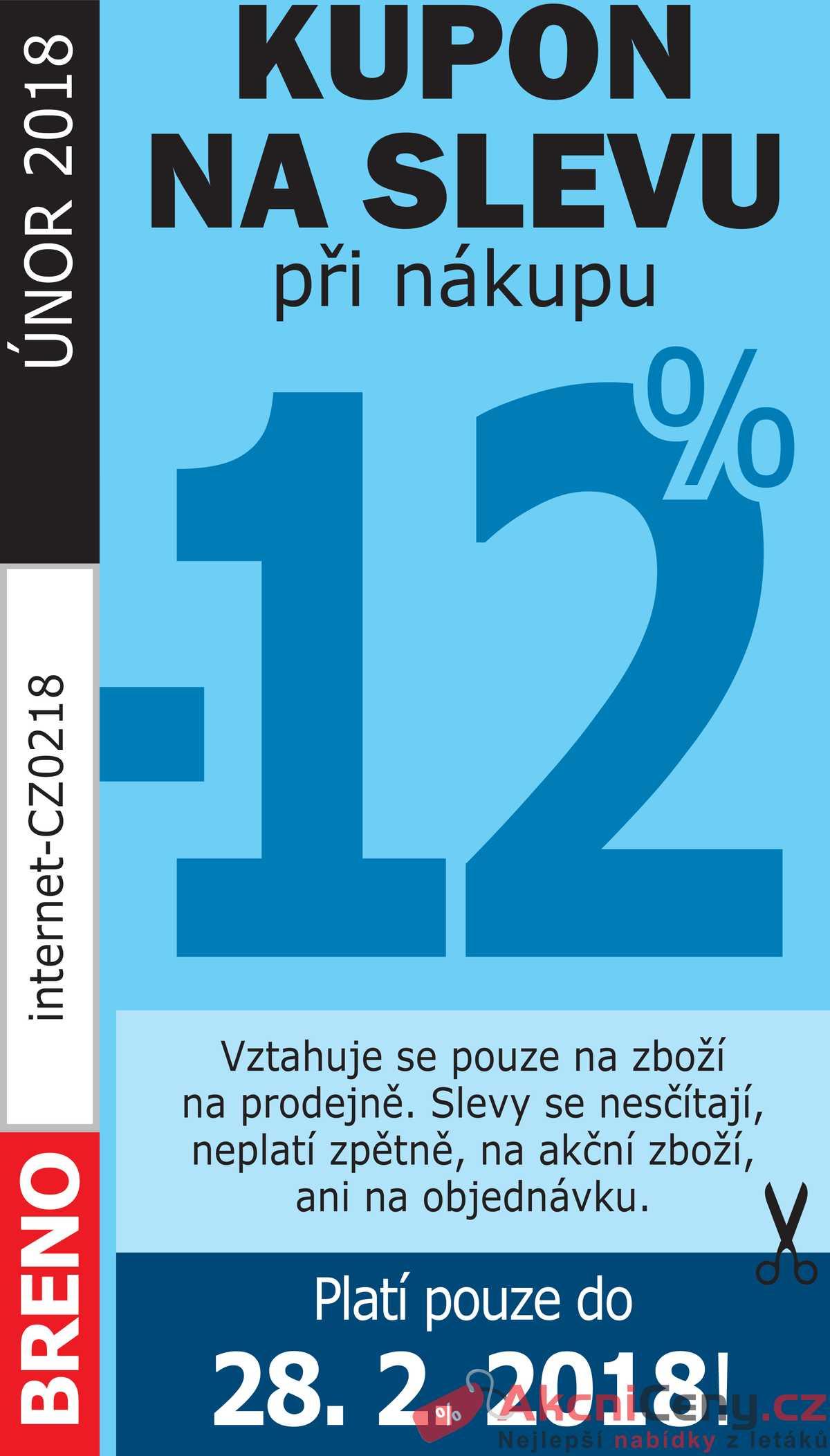 Leták Koberce BRENO - Koberce BRENO kupón do 28.2. - strana 1