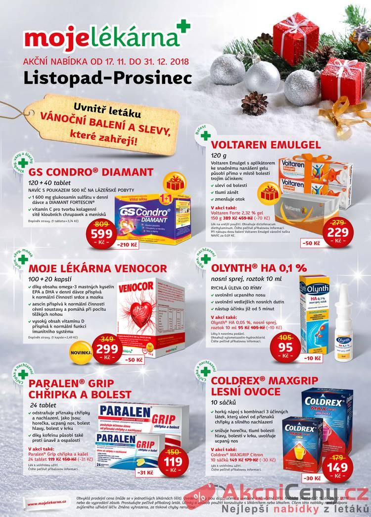 Leták mojelekarna.cz - Moje lékárna 17.11 - 31.12 - strana 1
