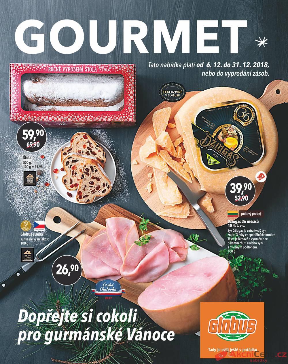 Leták Globus - Globus speciál všechny pobočky 6.12. - 31.12. - strana 1
