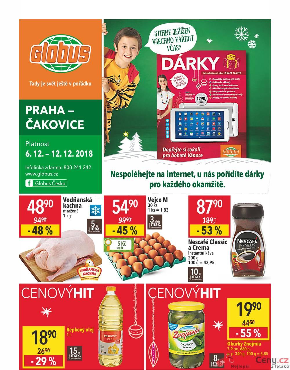 Leták Globus - Globus Praha Čakovice  6.12. - 12.12. - strana 1