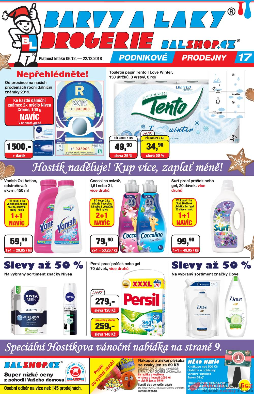 Leták Barvy a laky drogerie  - Barvy a laky drogerie 6.12. - 22.12. - strana 1