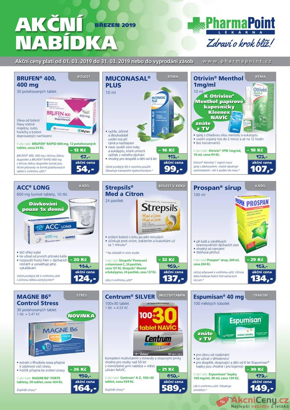Leták PharmaPoint  - PharmaPoint 1.3. - 31.3. - strana 1