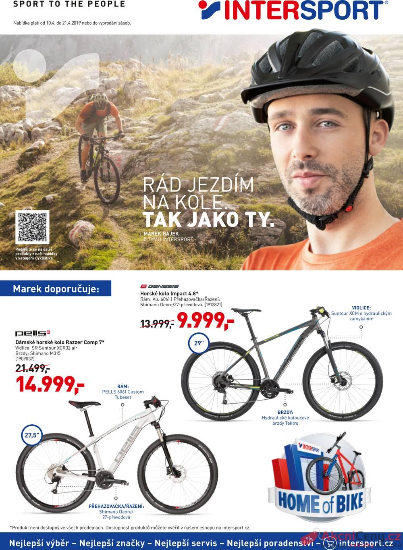 Leták Intersport - Intersport 10.4. - 21.4. - strana 1