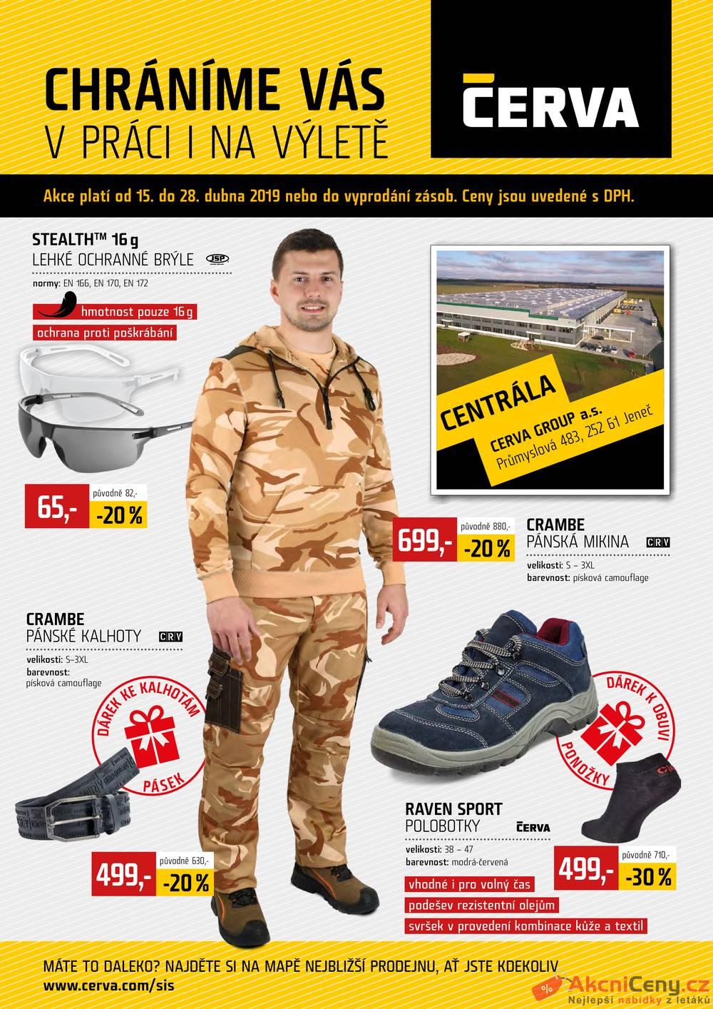 Leták ČERVA - Červa 15.4 - 28.4 - strana 1
