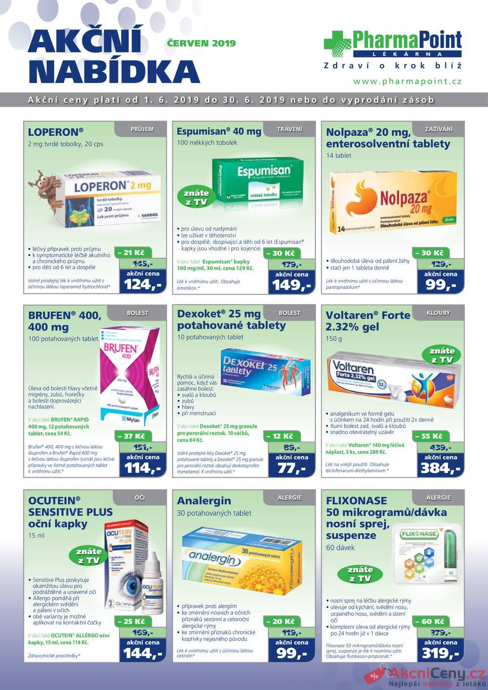 Leták PharmaPoint  - PharmaPoint 1.6. - 30.6. - strana 1