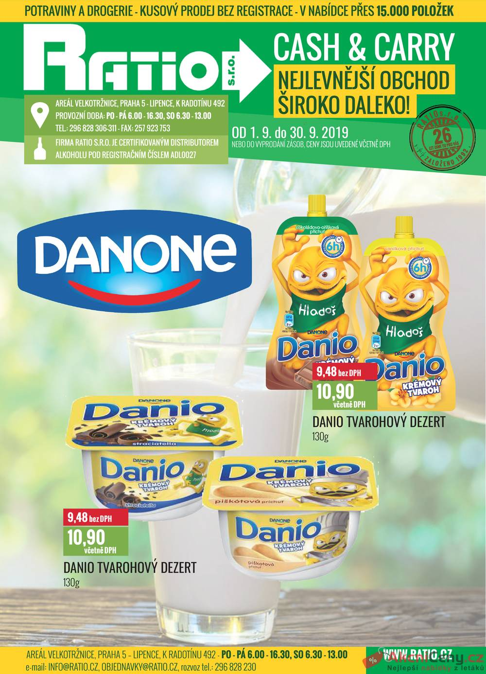 Leták Ratio - Ratio Danio od 1.9. do 30.9.2019 - strana 1