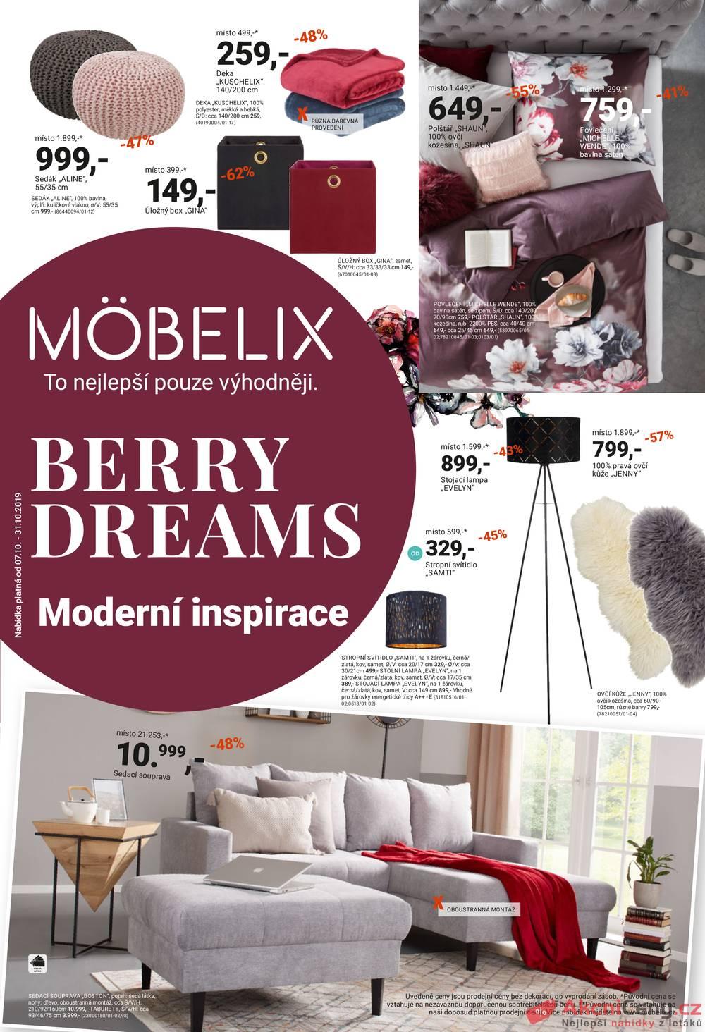 Leták Möbelix - Möbelix od 7.10. do 31.10.2019 - strana 1