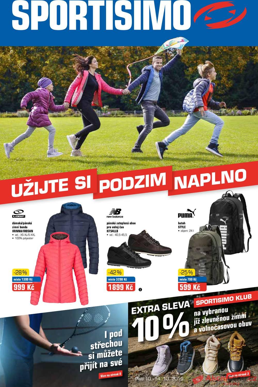Leták Sportisimo - Sportisimo od 10.10. do 20.10.2019 - strana 1