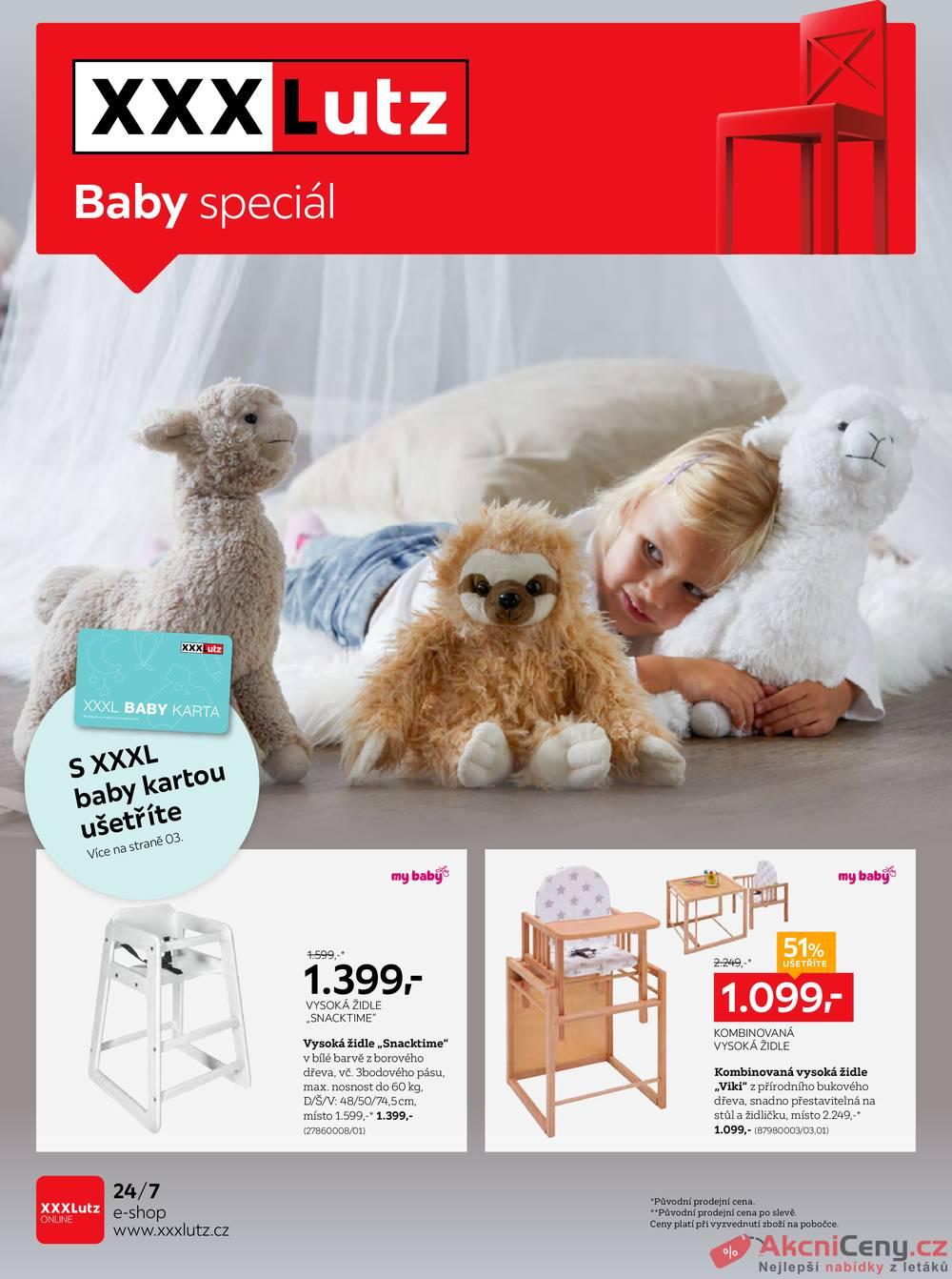 Leták XXXLutz - XXXLutz Baby speciál od 14.10. do 31.12.2019 - strana 1