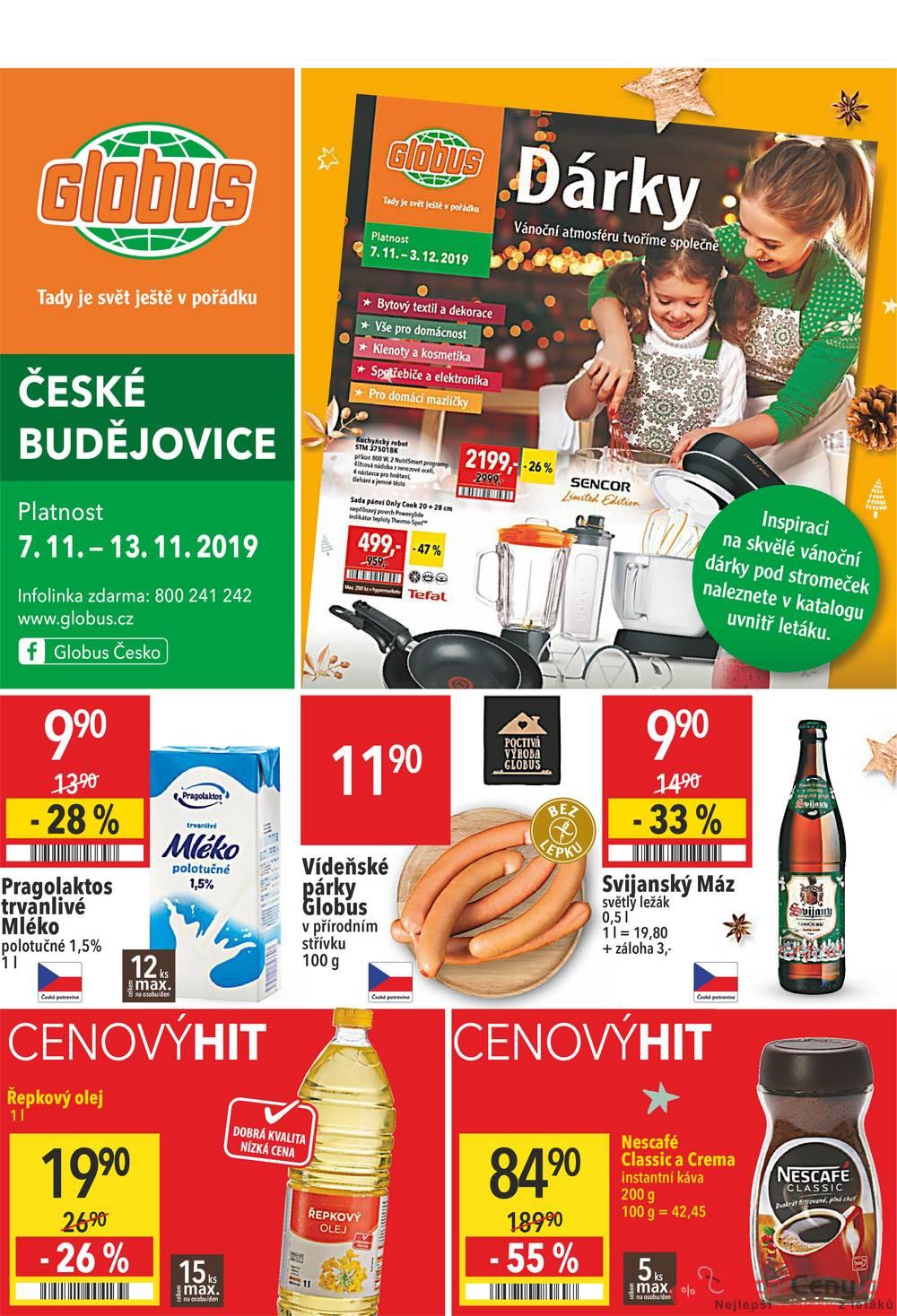 Leták Globus - Globus České Budějovice  7.11. - 13.11. - strana 1