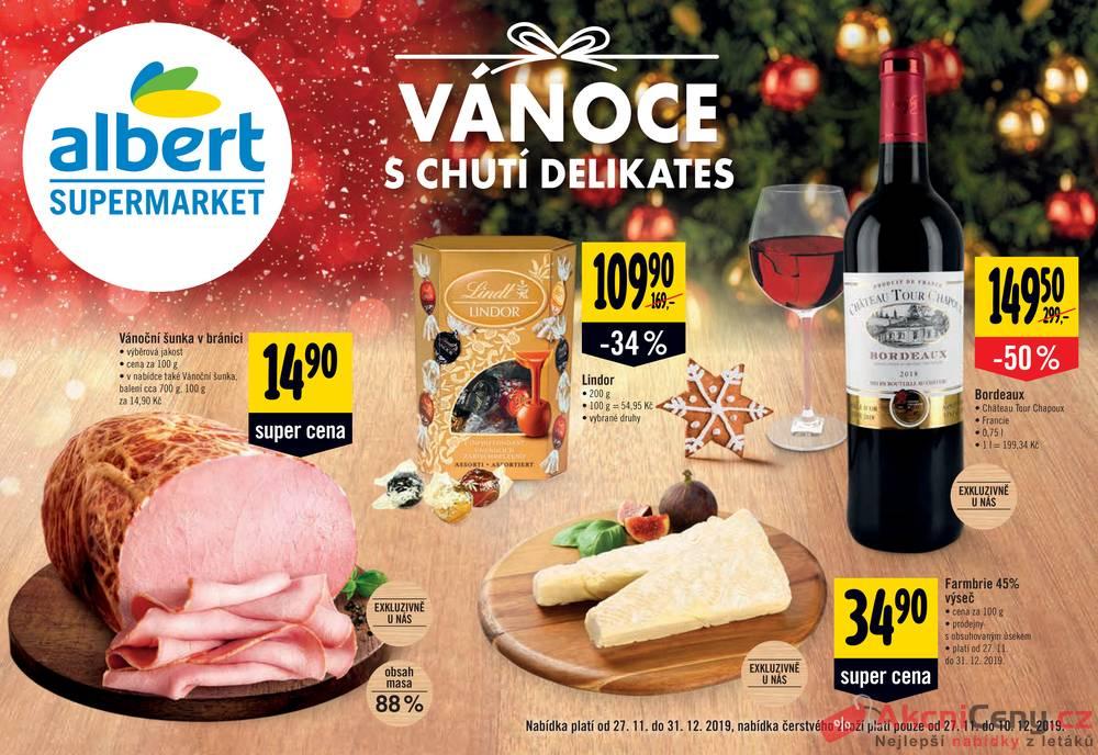 Leták Albert - Albert Supermarket katalog DELIKATES od 27.11. do 10.12.2019 - strana 1