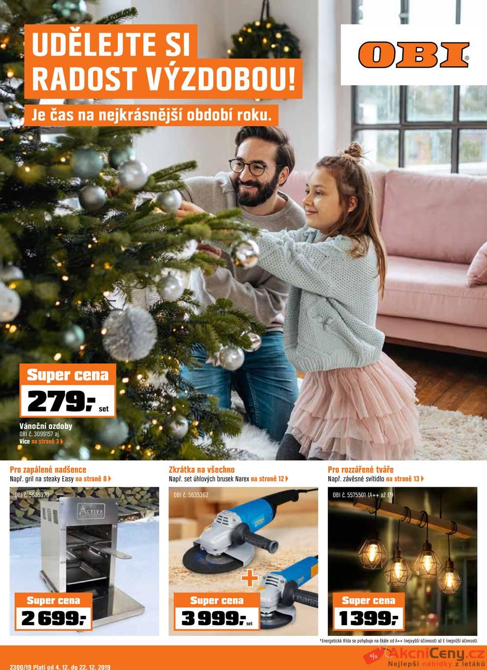 Leták OBI - OBI od 4.12. do 22.12.2019 - strana 1