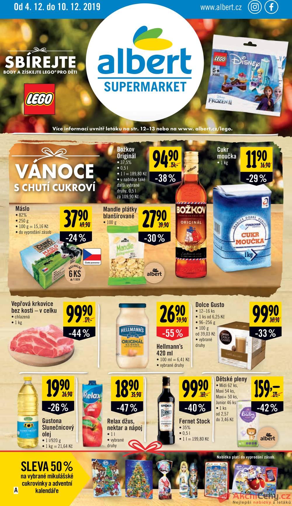 Leták Albert - Albert Supermarket od 4.12. do 10.12.2019 - strana 1