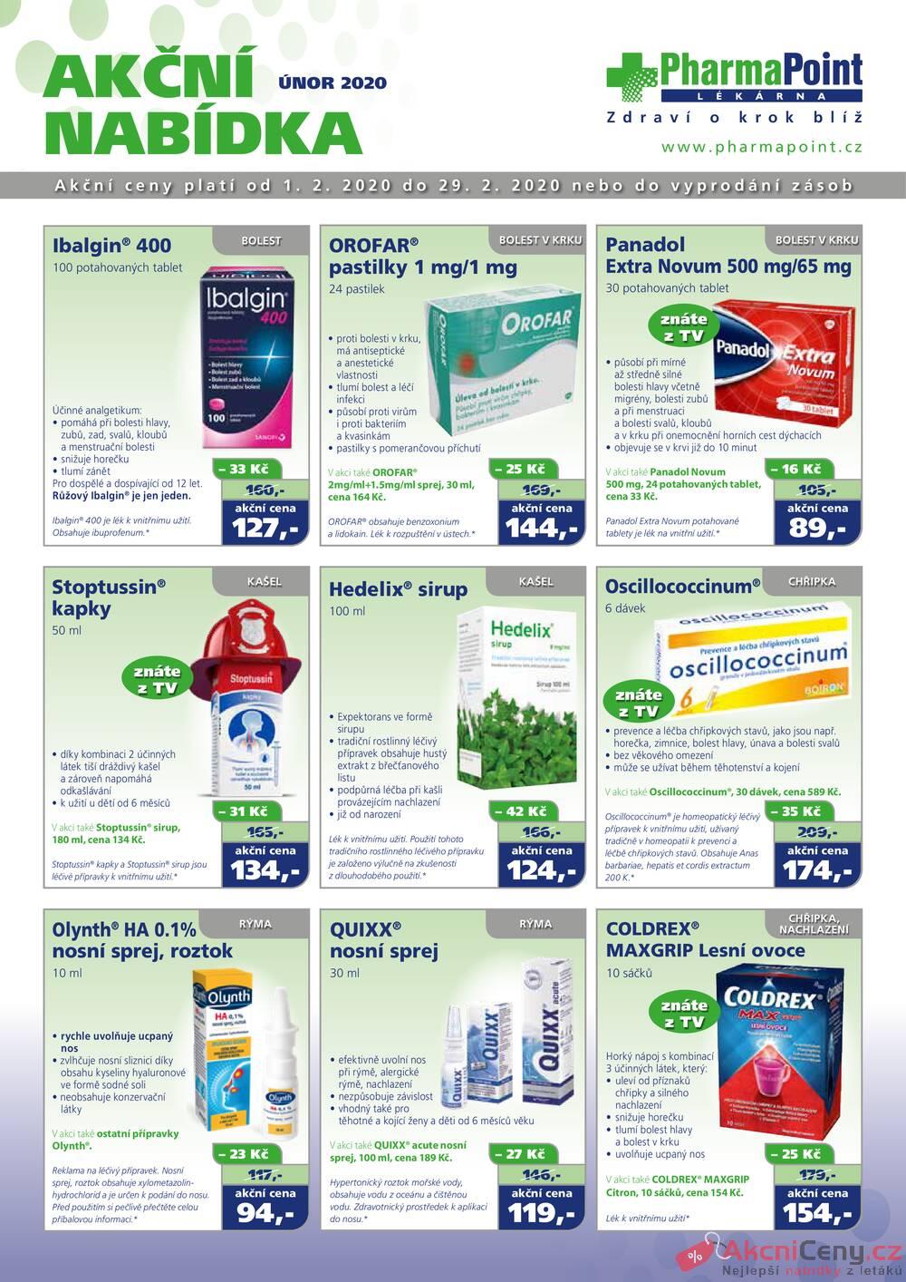 Leták PharmaPoint  - Pharma Point od 1.2. do 29.2.2020 - strana 1