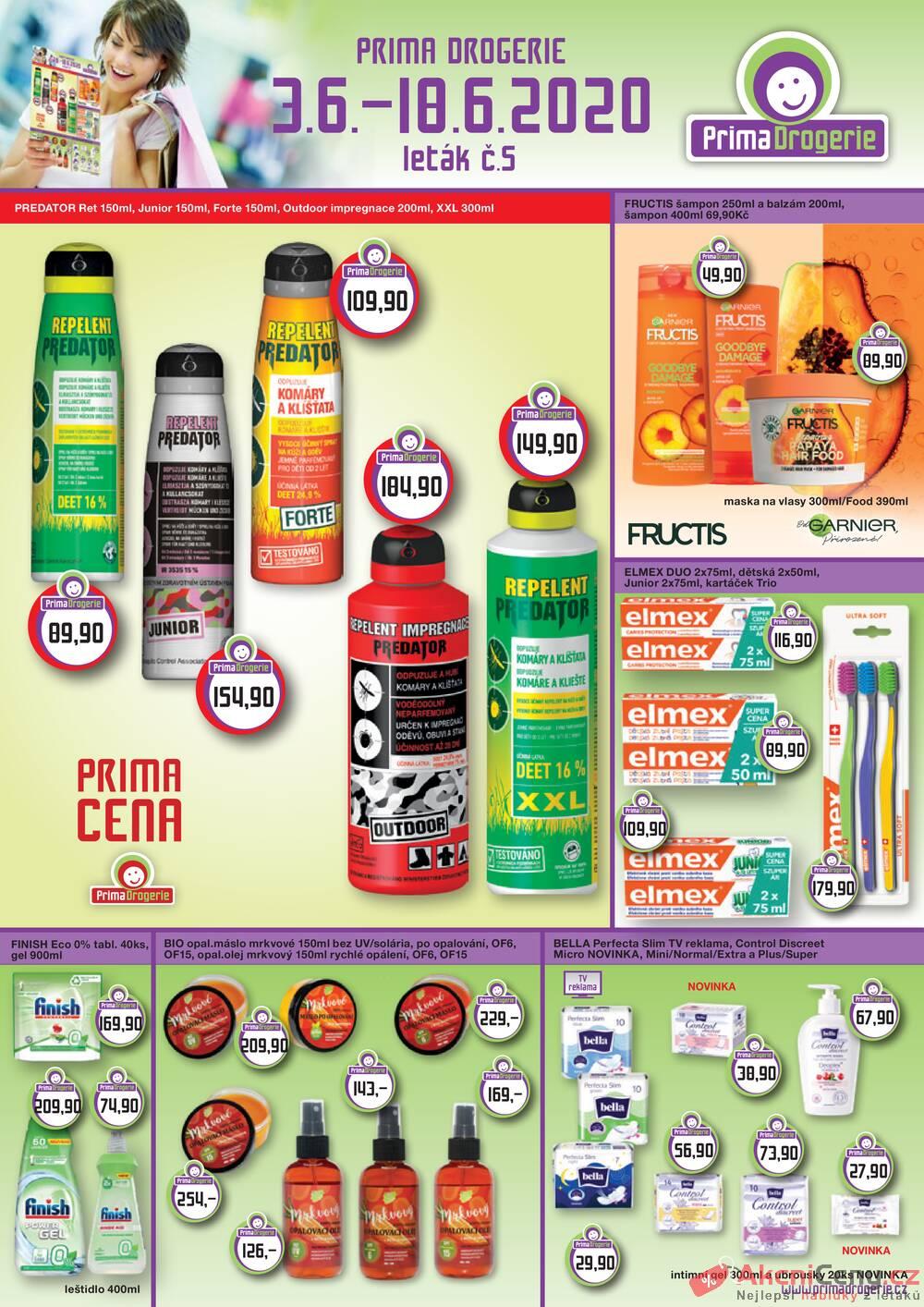 Leták Prima Drogerie - Prima drogerie  od 3.6. do 18.6.2020 - strana 1