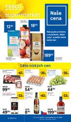 Tesco supermarkety od 29.7. do 4.8.2020