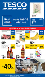 Leták Tesco malé hypermarkety od 23.9. do 29.9.2020