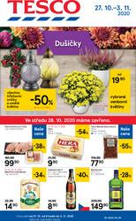 Leták Tesco malé hypermarkety od 27.10. do 3.11.2020