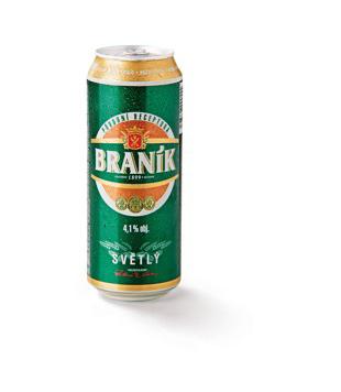 Braník Světlý, výčepní pivo (plechovka)