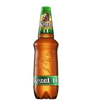 Velkopopovický Kozel 11°, světlý ležák (PET) 1,25l