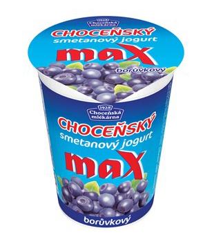 smetanový jogurt MAX s příchutí