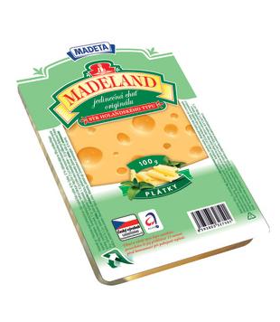 plátkový sýr Madeland, různé druhy
