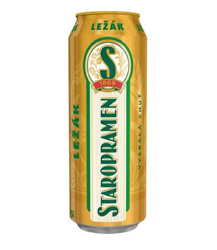 Staropramen Ležák, světlé pivo (plechovka)