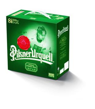 Pilsner Urquell 12°, světlý ležák (8 kusů)