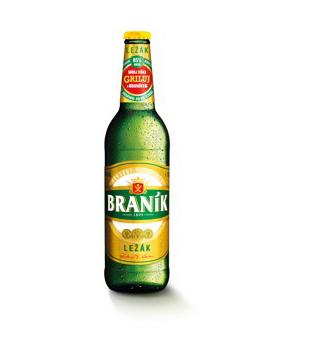 Braník Ležák, světlé pivo 0,5l v akci