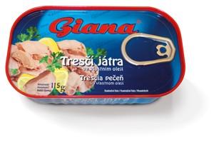 Giana Tresčí játra 115g