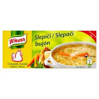 Knorr bujón 12 kostek, vybrané druhy