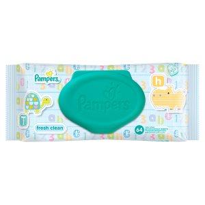 Pampers Fresh Clean čisticí ubrousky 64 ks
