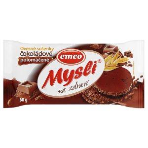 Mysli Ovesné sušenky čokoládové - Polomáčené 60g