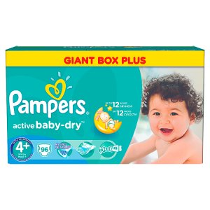 Pampers Active Baby-Dry Pleny 4+ maxi+ 96 ks