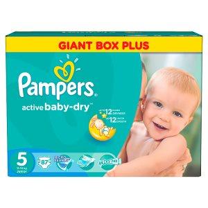 Pampers Active Baby-Dry Pleny 5 junior 87 ks