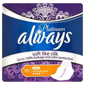 Always Platinum Ultra normal plus hygienické vložky s jemnou vůní 10 ks