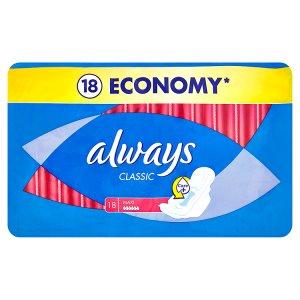Always Classic Maxi hygienické vložky 18 ks