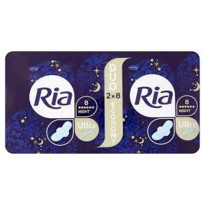 Ria Ultra Night ultratenké dámské vložky 16 ks